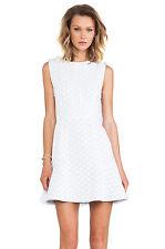$368 NWT MARC BY MARC JACOBS LEYNA DOTTY PONTE MINI NYLON DRESS WHITE S M 4 6
