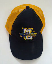 the best attitude 876d5 48b93 MU Marquette embroidered front mesh snapback trucker style hat blue yellow