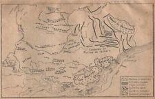 Southern alpes géologie. provence. alpes subalpine vanoise 1925 old map