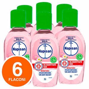 Napisan Gel Igiene Detergente Mani Camomilla Disinfetta Batteri 6x50ml