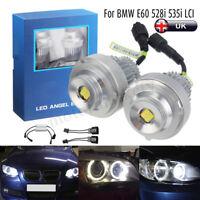 2x 20W No Error Free LED Angel Eye Halo Ring Light Bulb For BMW 5 Series E60 E61