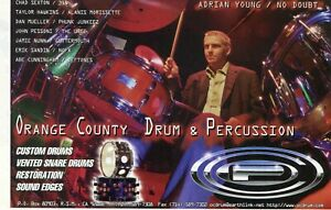 1997 small Print Ad OCDP Orange County Drum & Percussion w Adrian Young No Doubt