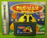 Pac-man World W/ Manual - Game Boy Advance GBA Nintendo Tested *Authentic*
