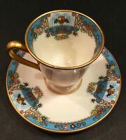 Vintage Lenox Demitasse teacup. Fountain pattern. Mint, no chips.