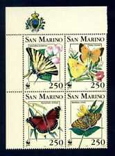 San Marino 1993 - WWF Farfalle - Quartine - MNH **