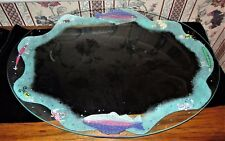 Hand Painted Clear Glass Serving Platter By Smithereens