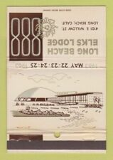 Matchbook Cover - Long Beach CA Elks Lodge 40 Strike