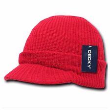 Men Women Visor Knit Beanie Cap Ball Cap Ski Hunting Army Military Winter Hats