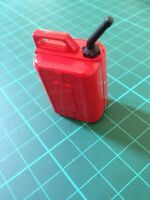 1 Red Plastic Fuel Can  For 1/10 RC Rock Crawler Accessory,scale garage etc