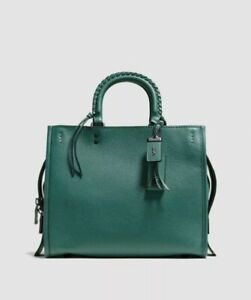 Coach 1941 Rogue 30 Dark Turquoise Whipstitch Handle NEW 58116