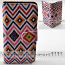 For Samsung Galaxy Note Series Aztec Woven Print Wallet Mobile Phone Case Cover