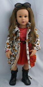 """Gotz happy kidz Frieda doll brown hair, brown eyes, and freckles 19"""""""