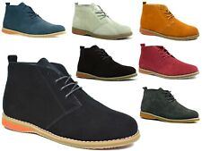 New Mens Suede Leather Lace Up Desert Boot HIGH QUALITY CASUAL BOOTS SIZES 6-12