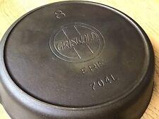 Clean Griswold 8 Cast Iron Skillet Erie Slant Logo Heat Ring