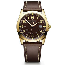 Victorinox Swiss Army Infantry Men's Brown Dial Leather Strap Watch 241645