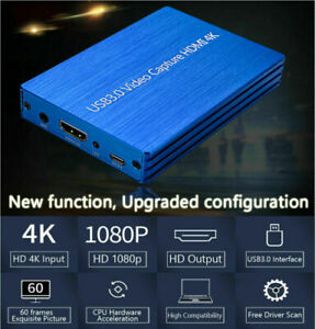 Video-Capture-Box 1080P 60fps Dongle HD Video Recorder 4K HDM to USB 3.0 AH