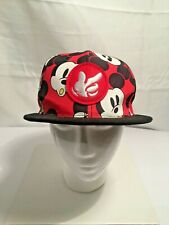 Disney Mickey Mouse Snapback Cap Unisex Adjustable Hat (W/Mickey Spell Out Back)