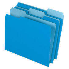 Office Depot Brand File Folders, Letter Size, 1/3 Cut, Blue, Box Of 100