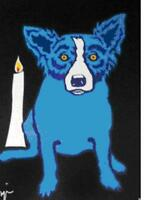 """Blue Dog George Rodrigue    """"A Flame in My Heart For You""""   MAKE  OFFER   BA DSS"""