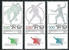 SELLOS DEPORTES ISRAEL 1977 642/44 JUDO/LANZAMIENTO/ESGRIMA 3v.