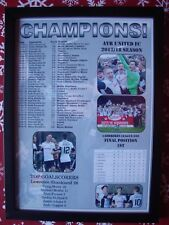 Ayr United Scottish League One champions 2018 - framed print