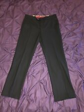 Mens 34w Meyer Trousers Roma 34/30 Designer Black Trousers Modern Comfort Patch