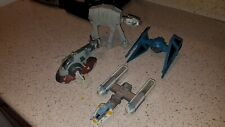 Star Wars Action Fleet Micro Machines At At Slave 1 Y Wing Tie Fighter Lot of 4