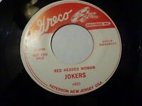 JOKERS 'RED HEADED WOMAN' USA GRECO WILD UNISSUED 1961 ARKANSAS ROCKABILLY 45