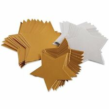 Creation Station Large Stars Card Three Sizes Pack of 50 Gold + Silver CT4250