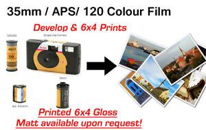 """35mm/120/APS/SUC  Colour Film Develop and 6""""x4"""" Prints"""