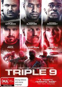 Triple 9 (DVD, 2016)Australian Stock