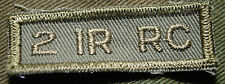 """CANADIAN ARMY COMBAT TAB UNIT BADGE  INSIGNIA  """"2 IR RC""""  4 FOR $1 MIX & MATCH"""