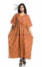 WOMEN PAISLEY COVER UP KAFTAN SUMMER TUNIC GOWN BATH ROBE SHIRT DRESS BEACHWEAR