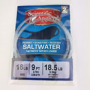 Scientific Anglers Saltwater Tapered Leader 2 Pack 16 Lb