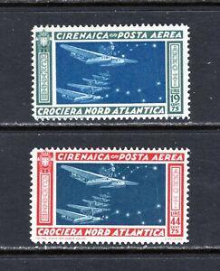 JHL 1933 CYRENAICA C18-C19 FULL SET OF 2 UNUSED F/VF LH (CAT $42)