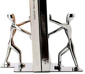 Fasmov Heavy Duty Stainless Steel Man bookends Nonskid Bookends Art Bookend,1