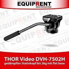"""THOR Video DVH-7502H Stativkopf bis 2kg mit Dämpfung und 3/8"""" flat base (EQT42)"""