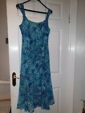 Per Una Marks And Spencer Ladies Summer Holiday Blue multi Dress Uk16R Euro 44.
