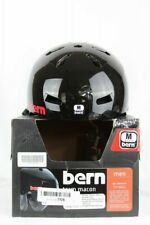 Bern Team Macon Snowboard Bike Helmet Gloss Black Earflaps Med 55.5 - 57 cm NEW