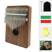 Portable 17 Keys Kalimba Thumb Piano Instruments Mahogany Wood With Tune Hammer
