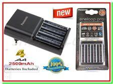 Caricabatterie PANASONIC ENELOOP PRO BQ-CC55E +4 Batterie Pile Stilo AA BK-3HCDE