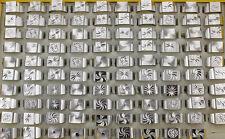 Mixed Design Lots 10pcs Silver Color Aluminum Fashion Men's Rings L729