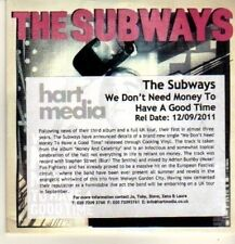 (CN794) The Subways, We Don't Need Money To Have A Good Time - 2011 DJ CD