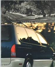 1997 NISSAN QUEST MiniVan Brochure / Catalog with Color Chart: XE,GXE, Mini Van