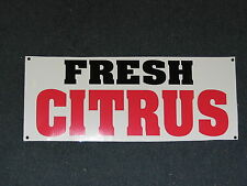 FRESH CITRUS Banner Sign NEW Larger Size for Nursery Lawn and Garden Center tree