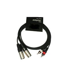 2x Cinch Chinch male auf XLR male 1,5m Adapter Kabel Endstufen CD-Player Effekt