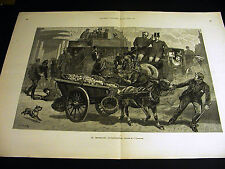 "Charlton COLLISION ""THE GRAPHIC"" & HORSE & COACH & VEGETABLE CART 1890 Lg Print"