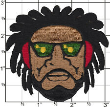 Rasta Patch Iron On Patch Rastafarian Bob Marley Applique dreadlock