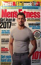 Men's FITNESS Magazine February 2017 DAVID GANDY SEALED