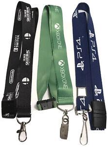 NEW Game Console Lanyard Set PS4 Xbox One Nintendo Switch Keychain Badge Bolxers